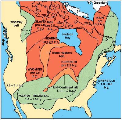 North American Geologic Provinces